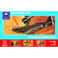 1:72 Dewoitine D.520 C French fighter