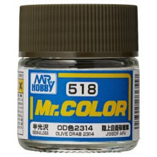 C-518 Olive Drab 2314 Mr.Color 10ml. boja