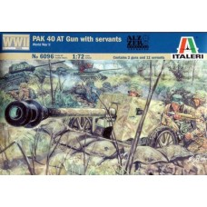1:72 WWII German PAK 40 AT GUN with servants