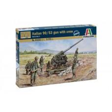 1:72 ITALIAN 90/53 GUN with crew