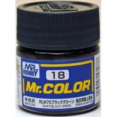 Crno/Zelena RLM70 Mr. Color 10ml. boja