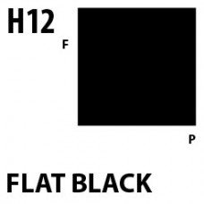 H12 Flat Black Aqueous Hobby 10 ml. boja