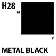 H28 Metal Black Aqueous Hobby 10 ml. boja