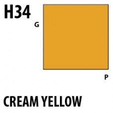 H34 Cream Yellow Aqueous Hobby 10 ml. boja