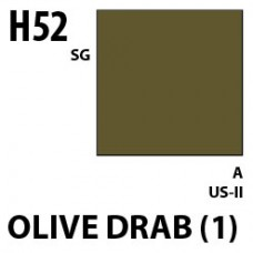 H52 Olive Drab(1) Aqueous Hobby 10 ml. boja