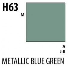 H63 Metalic Blue Green Aqueous Hobby 10 ml. boja