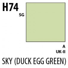 H74 Sky (Duck Egg Green) Aqueous Hobby 10 ml. boja