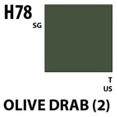 H78 Olive Drab (2) Aqueous Hobby 10 ml. boja