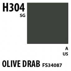H304 Olive Drab FS34087 Aqueous Hobby 10 ml. boja