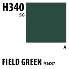 H340 Field Green FS34097 Aqueous Hobby 10 ml. boja