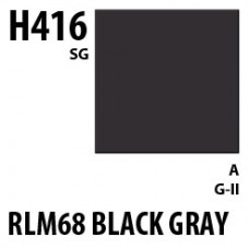 H416 RLM66 Black Gray Aqueous Hobby 10 ml. boja