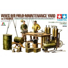 1/35 WWII U.S. Field Maintenance Yard (w/2 Figures)