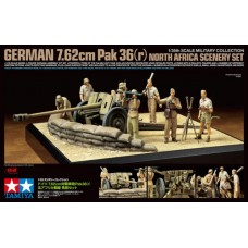 1/35 German 7.62cm Pak 36(r) North Africa Scenery Set