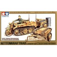 1/48 Kettenkrad w/Cart & Goliath Vehicle