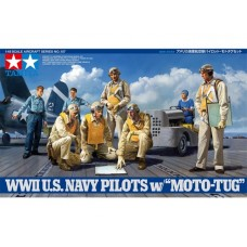 1/48 WWII USN Pilots w/Tug