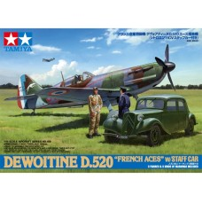 1/48 D.520 French Aces w/Staff car