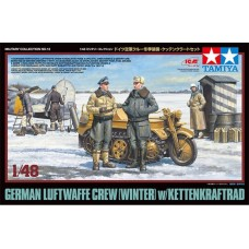 1:48 German Luftwaffe Crew (Winter) w/Kettenkraftrad