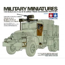 1/35 U.S. 2 1/2ton 6x6 Cargo Truck Accessory Parts Set