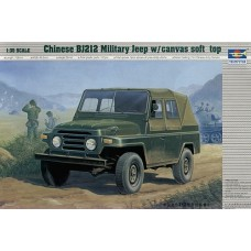 Chinese BJ212 Military Jeep w/canvas soft top 1:35