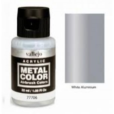 706 White Aluminium Metal Color 35ml. Akrilna Boja