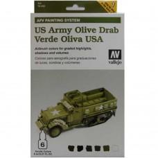 US Army Olive Drab AFV Armour Paint System 8ml. Akrilna boja