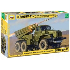 Russian truck-mounted rocket launcher Grad BM-21  1/35