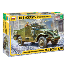 """Armored personnel carrier M-3 """"Scout Car"""" 1/35"""
